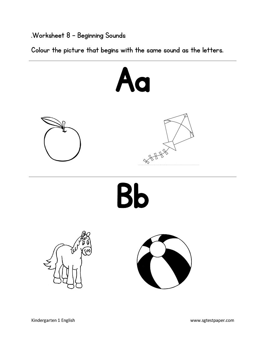 Free Kindergarten & Preschool Worksheets Printables